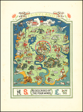 Curiosities Map By Gilbert Anthony Pownall