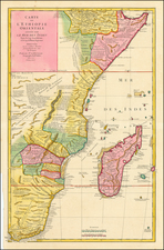 South Africa, East Africa and African Islands, including Madagascar Map By Jean-Baptiste Bourguignon d'Anville