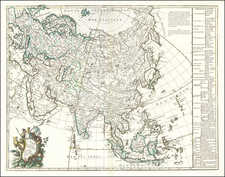 Asia Map By George Louis Le Rouge