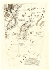East Africa and African Islands, including Madagascar Map By Vincenzo Maria Coronelli
