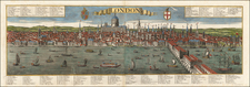 London Map By Georg Balthasar Probst