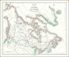 Polar Maps, Alaska and Canada Map By Gall  &  Inglis