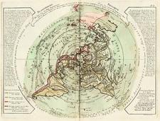 World, World, Northern Hemisphere, Alaska and Canada Map By Philippe Buache