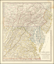 North America Sheet VII, Pennsylvania, New Jersey, Maryland, Delaware Columbia and Part of Virginia By SDUK