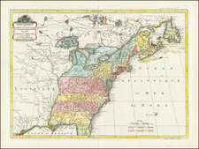 United States Map By Johannes Covens  &  Cornelis Mortier