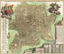 Rome Map By Johann Baptist Homann