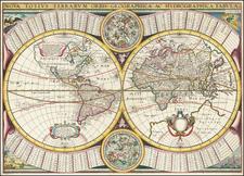 World Map By Melchior Tavernier