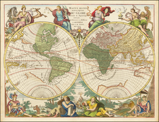 Mappe Monde ou Description Du Globe Terrestre & Aquatique…MDCCXCII   By Jan Barend Elwe
