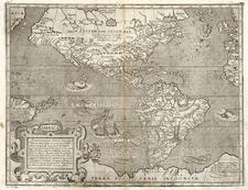 North America, South America and America Map By Arnoldo di Arnoldi