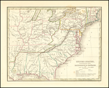 United States Map By Thomas Gamaliel Bradford
