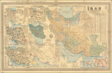 Central Asia & Caucasus and Persia Map By Sahab Geographic & Drafting Institute