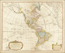 Pacific Northwest, America and Canada Map By Pierre Mortier Jr. / Johannes Junior Covens