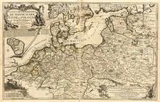 Europe, Germany, Poland, Baltic Countries and Scandinavia Map By Nicolas de Fer
