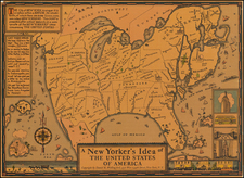 United States and Pictorial Maps Map By Daniel K. Wallingford