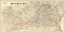 Maryland, West Virginia, Kentucky, Tennessee and Virginia Map By G.W.  & C.B. Colton