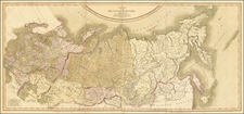 Russia and Russia in Asia Map By John Cary