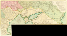 Russia, Ukraine, Romania, Bulgaria and Turkey Map By Georges Louis Le Rouge