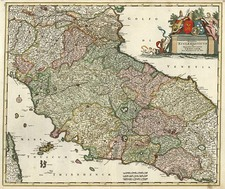 Europe and Italy Map By Frederick De Wit