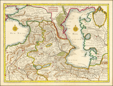Russia, Central Asia & Caucasus and Persia Map By Guillaume De L'Isle