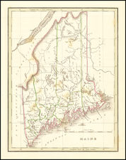 Maine Map By Thomas Gamaliel Bradford