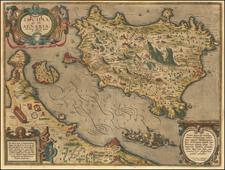 Ischia, quae olim Aenaria . . . 1590 By Abraham Ortelius