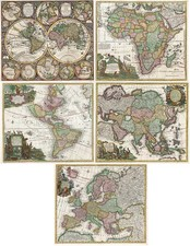 World, World and Curiosities Map By Matthaus Seutter