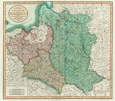 Europe, Poland, Russia, Baltic Countries and Germany Map By John Cary