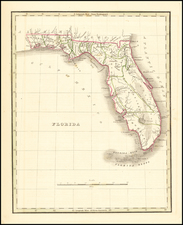 Florida Map By Thomas Gamaliel Bradford