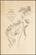 California and Other California Cities Map By William Hemsley Emory