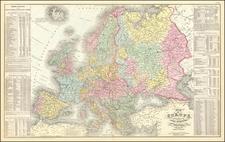 Europe Map By Cowperthwait, Desilver & Butler