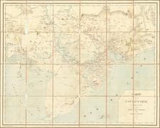 Thailand, Cambodia, Vietnam Map By F. H. Schneider