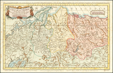Russia, Central Asia & Caucasus and Russia in Asia Map By Jacques Nicolas Bellin