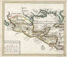 South, Southeast, Texas and Mexico Map By Johannes Covens  &  Cornelis Mortier