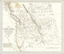 Idaho, Pacific Northwest, Oregon and Washington Map By Washington Hood