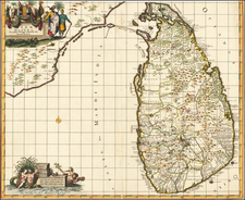 India and Sri Lanka Map By Reiner & Joshua Ottens