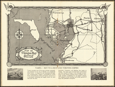 Florida Map By Tampa Board of Trade