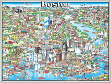 Pictorial Maps and Boston Map By Archar Inc.