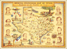 Texas and Pictorial Maps Map By Guy  F. Cahoon