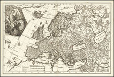 Europe and Iceland Map By Heinrich Scherer