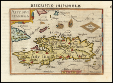Hispaniola Map By Barent Langenes