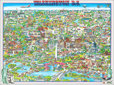 Washington, D.C. and Pictorial Maps Map By Archar Inc.