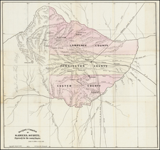 South Dakota Map By George F. Cram  &  Samuel Scott