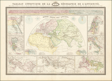 World, Europe, Italy, Greece, Mediterranean, Central Asia & Caucasus, Holy Land and Egypt Map By F.A. Garnier