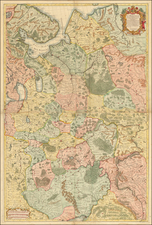 Russia and Ukraine Map By Joseph Nicholas de L'Isle