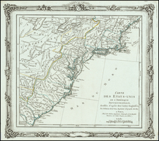 United States Map By Louis Brion de la Tour