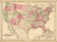 United States Map By Alvin Jewett Johnson