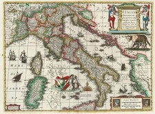 Europe and Italy Map By Henricus Hondius