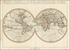 World and California as an Island Map By Nicolas Sanson