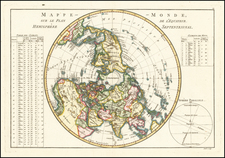 Northern Hemisphere and Polar Maps Map By Rigobert Bonne