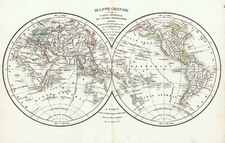 World and World Map By Delamarche